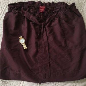 Plum Merona Skirt with tie